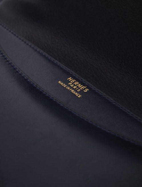 Hermès Constance 24 Box Bleu Marine Saclàb Logo