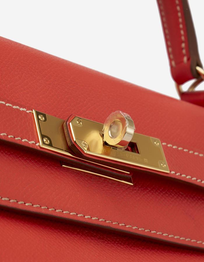 Hermès Kelly 35 Epsom Rose Jaipur - Limited Edition Saclab
