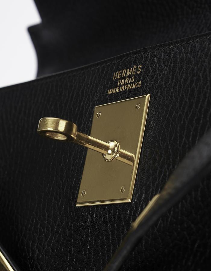 Hermes Kelly 32 Ardennes Noir Saclàb