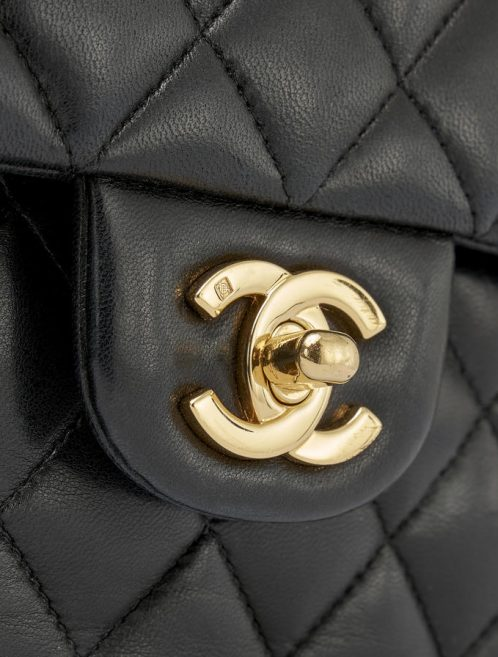 Chanel Timeless Medium Lamb Black Double flap by Saclab Logo