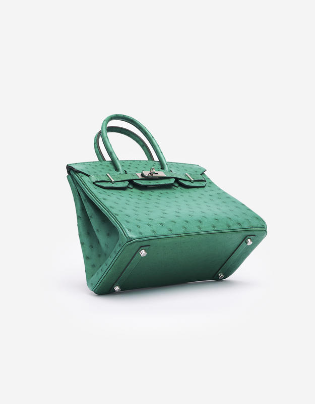 Hermès Birkin 30 Ostrich Vert Vertigo
