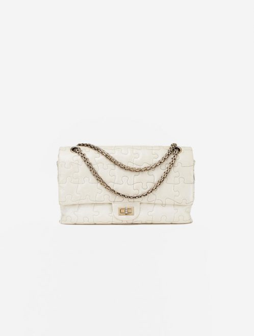 Chanel Classic Double Flap Bag Puzzle Off-White