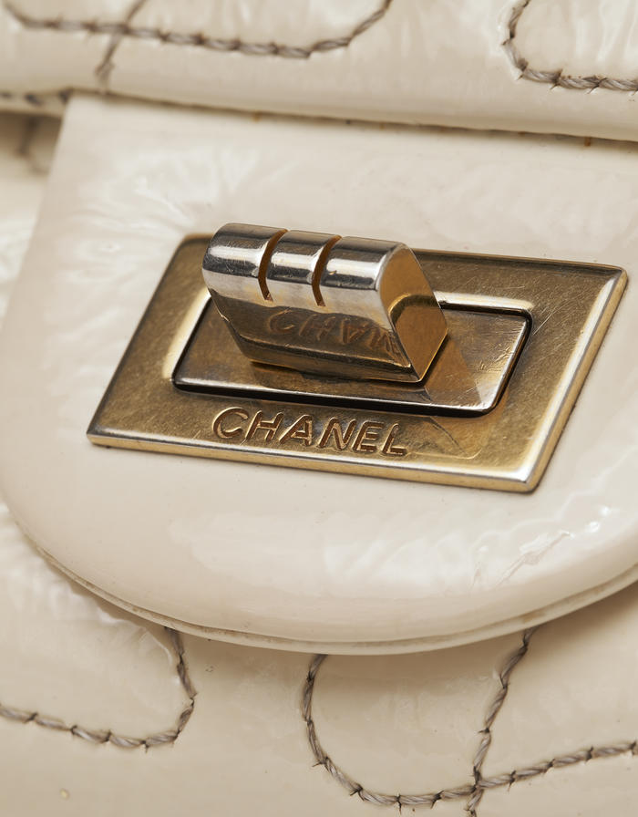 Chanel Reissue 227 Puzzle Off-White Saclàb