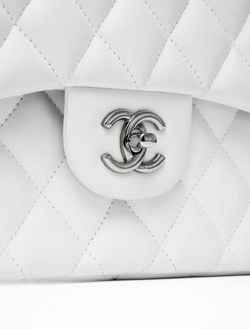 Chanel Jumbo Double Flap White Saclab CC Lock
