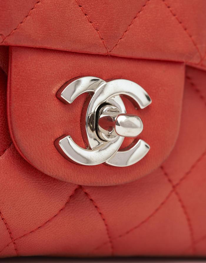 Chanel Single Flap Valentine Orange Saclàb CC