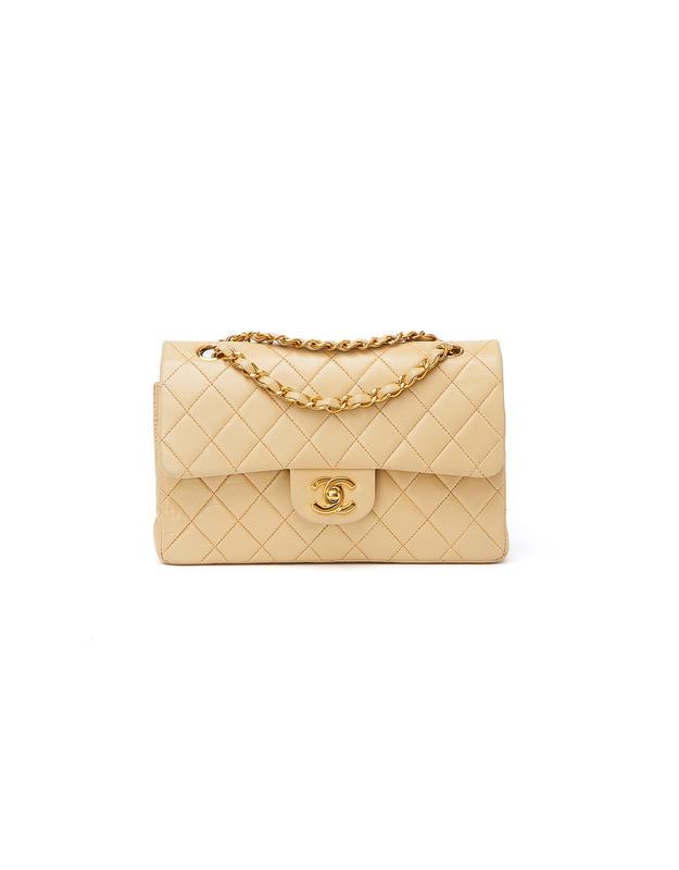 Chanel Classic Double Flap Bag Medium Beige