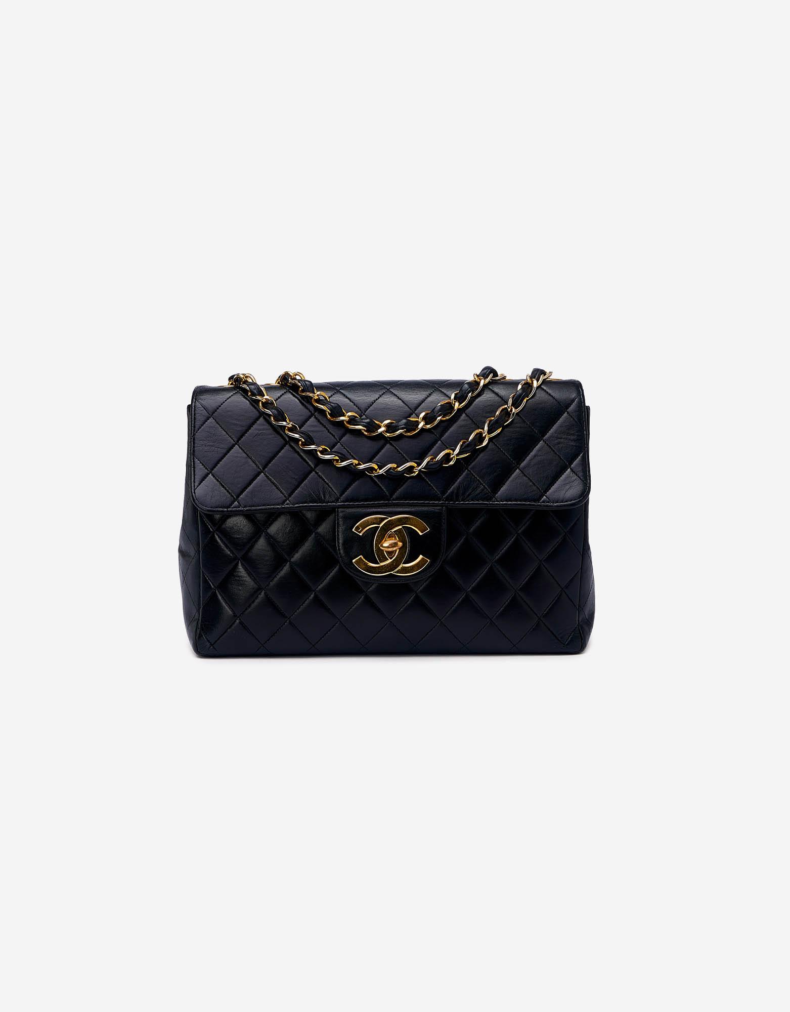 Chanel Jumbo Calfskin Black Vintage Saclàb