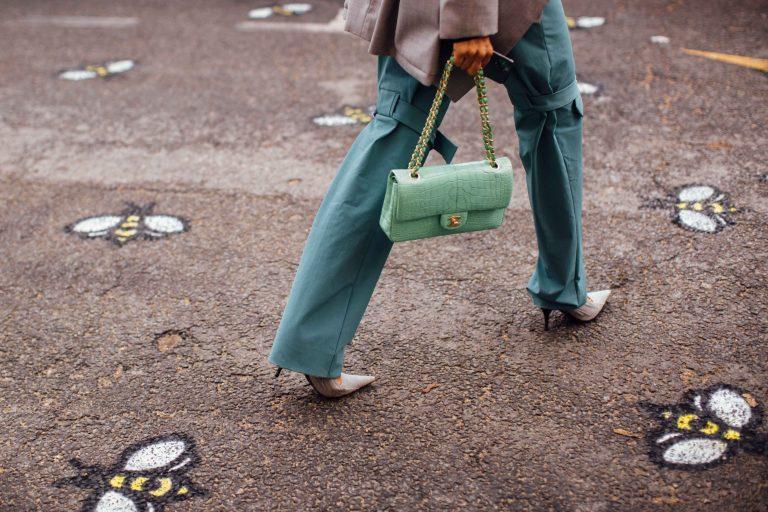 Chanel Timeless Flap Bag Alligator Streetstyle