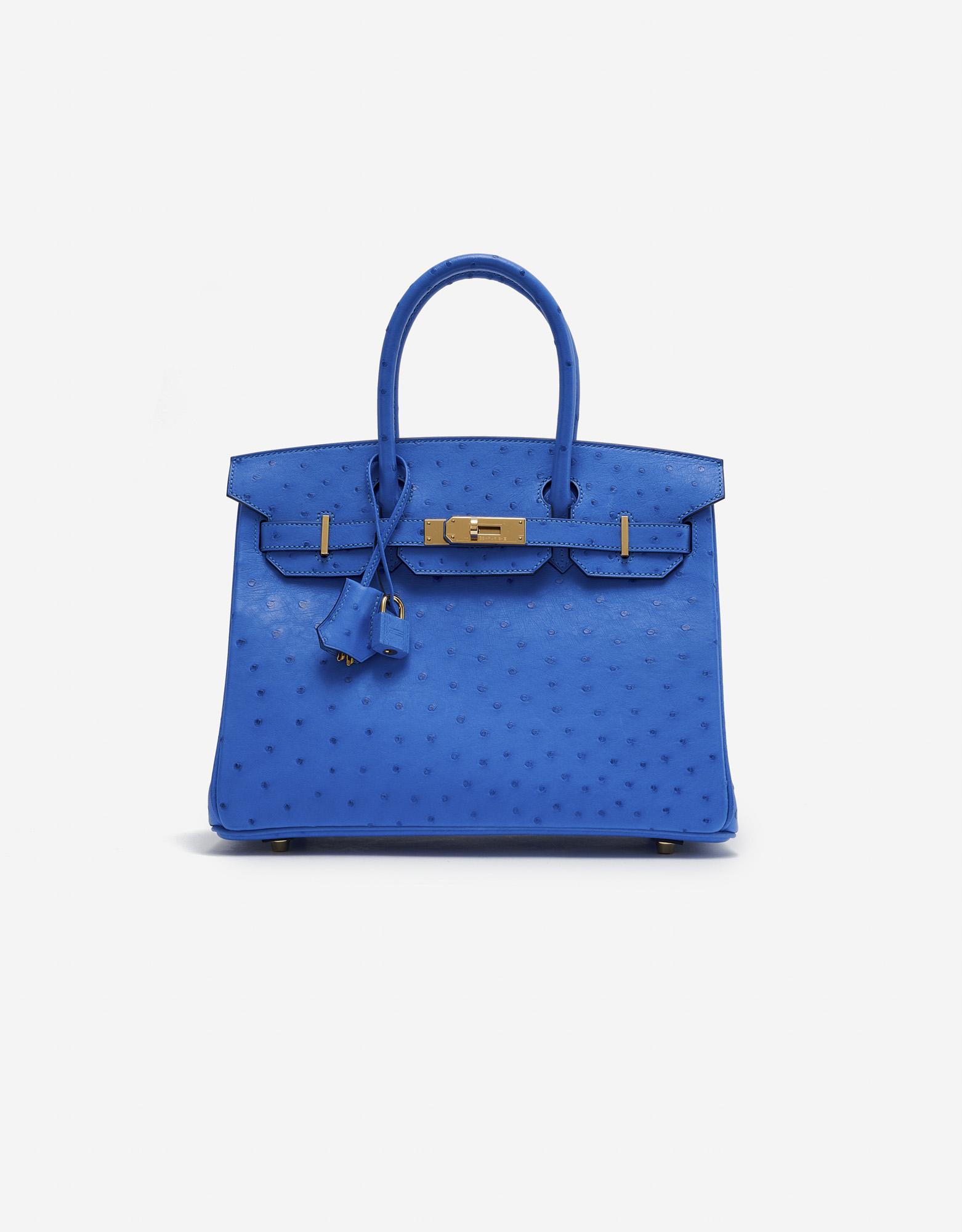 Hermès Birkin 30 Ostrich Bleuet