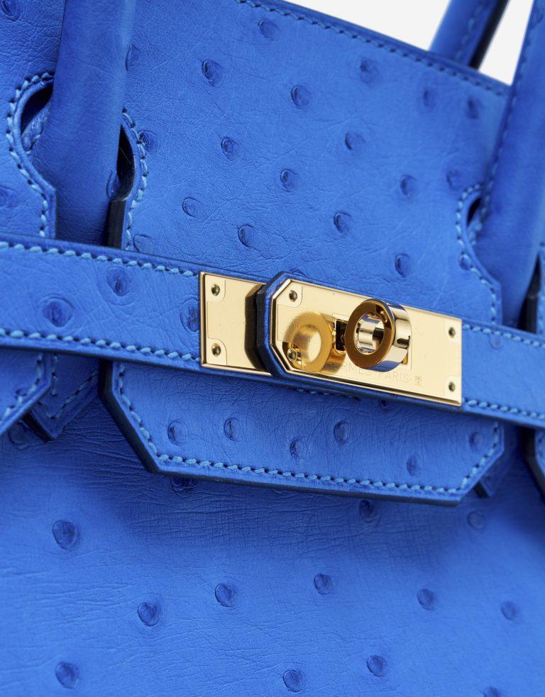Hermès Birkin 30 Ostrich Bleuet Saclàb