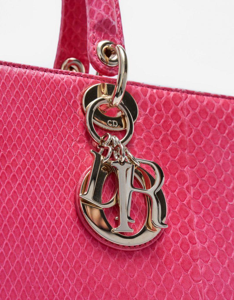 Dior Lady Large Python Pink