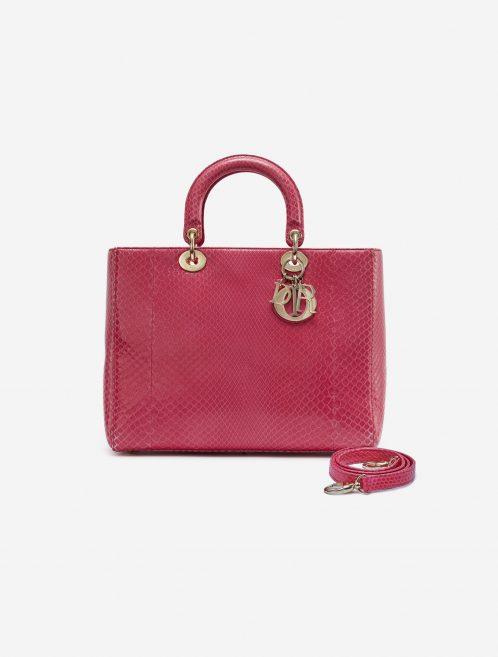 Dior Lady Large Python Pink Pink    Sell your designer bag on Saclab.com
