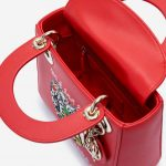 Dior Lady Mini Calf Red Red  | Sell your designer bag on Saclab.com
