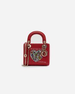 Dior Lady Bag Mini Calf Red