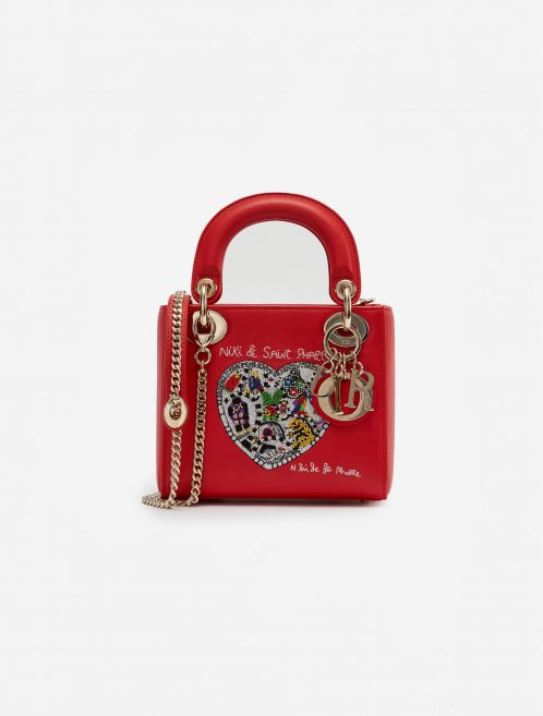 Dior Lady Mini Calf Red Red    Sell your designer bag on Saclab.com