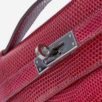Hermès Kelly Pochette Lizard Fuchsia Palladium Hardware
