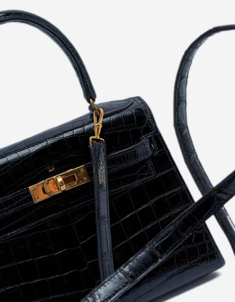 Hermès Kelly Mini 20 Crocodile Black Vintage