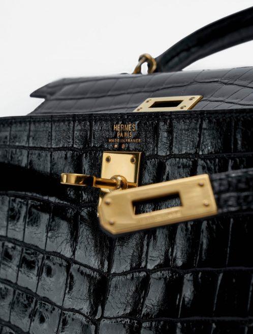 Hermès Kelly Mini 20 Crocodile Black Vintage