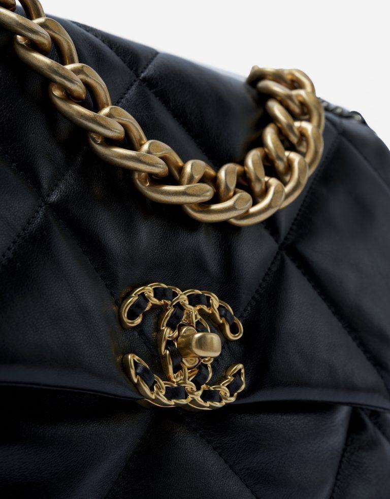 Chanel 19 Large Chevre Black
