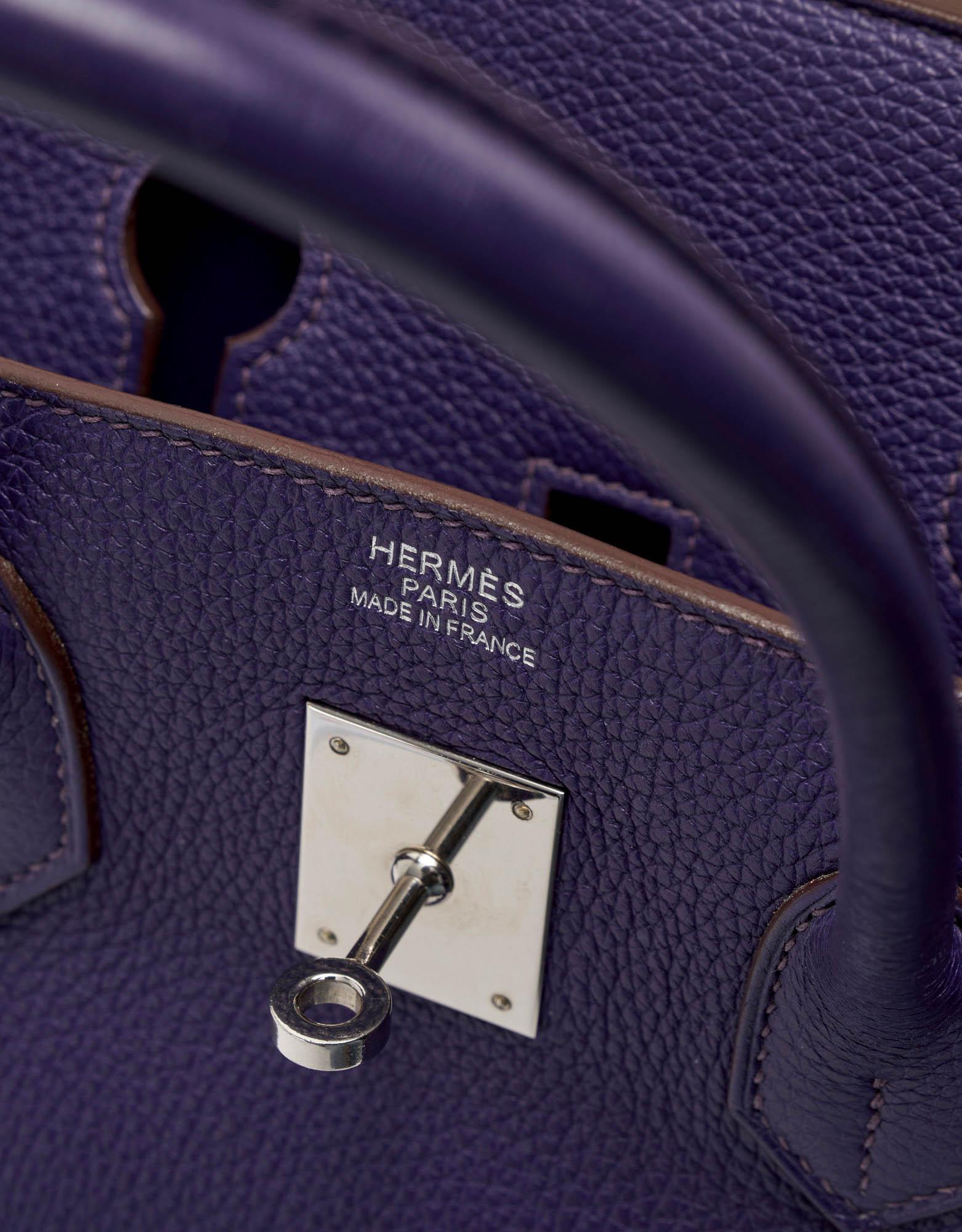 Hermès Birkin 35 Clemence Ultraviolet
