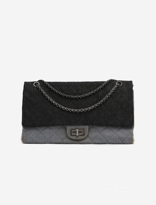 Chanel 2.55 Reissue Maxi Denim Grey Gray  | Sell your designer bag on Saclab.com