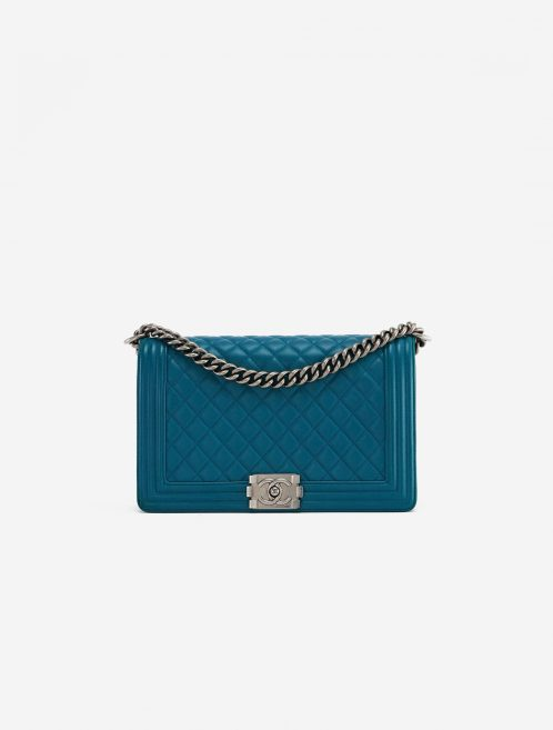Chanel Boy Medium Lamb Petrol Blue, Petrol  | Sell your designer bag on Saclab.com
