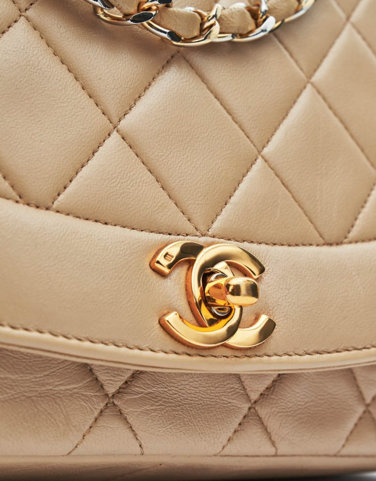 Chanel Diana Medium Lamb Beige