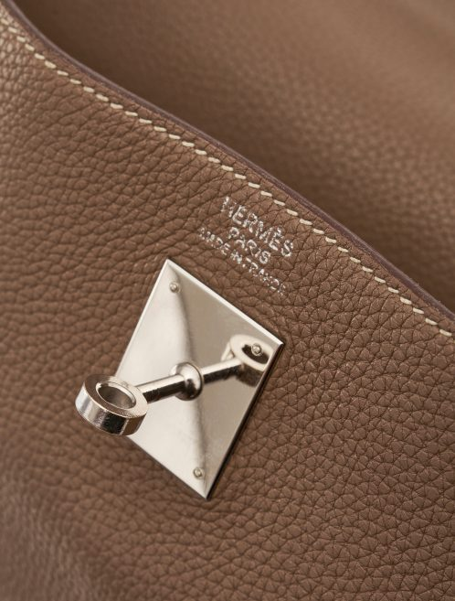 Hermès Kelly 40 Clemence Etoupe Hardware Detail SACLÀB