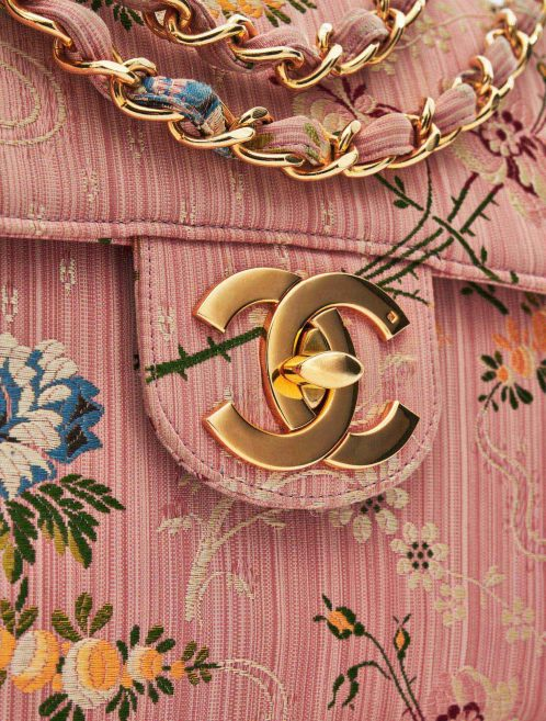Chanel Timeless Jumbo Brocade Rose Silk Limited Edition