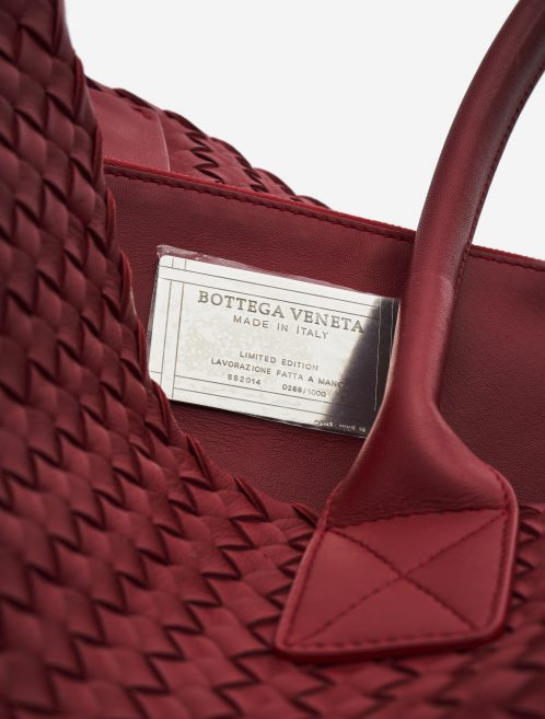 Bottega Veneta Cabat Medium Intrecciato Red