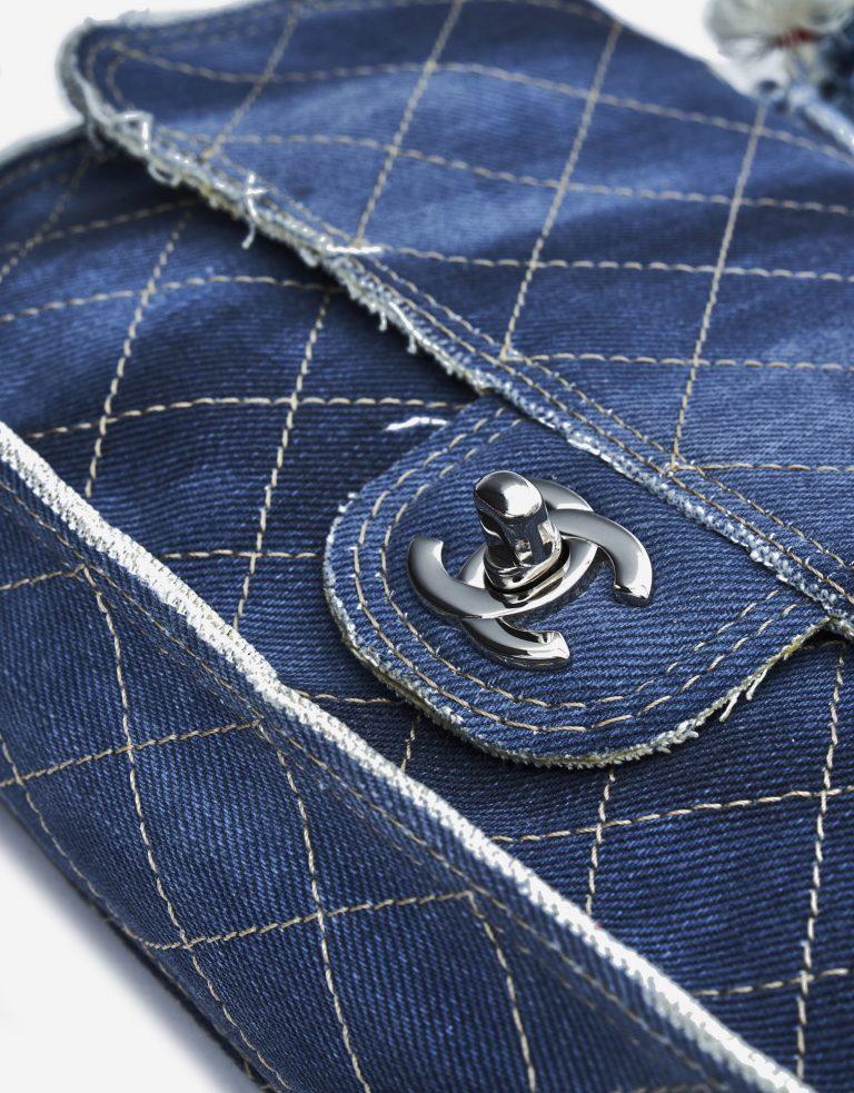 Chanel Timeless Flap Medium Jeans Blue