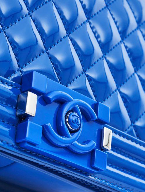 Chanel Boy Medium Patent Leather Blue
