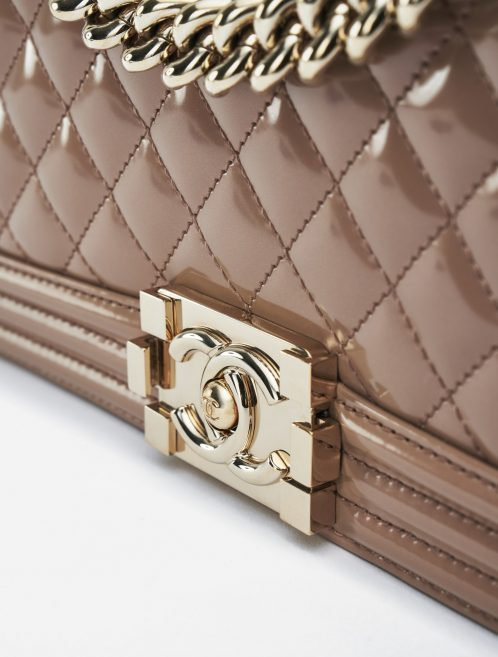 Chanel Boy Medium Patent Leather Sand