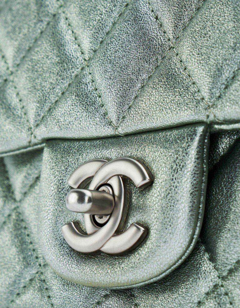 Chanel Timeless Mini Lamb Silver