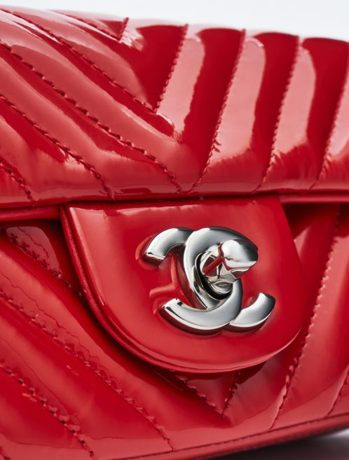 Chanel Timeless Mini Patent Leather Red