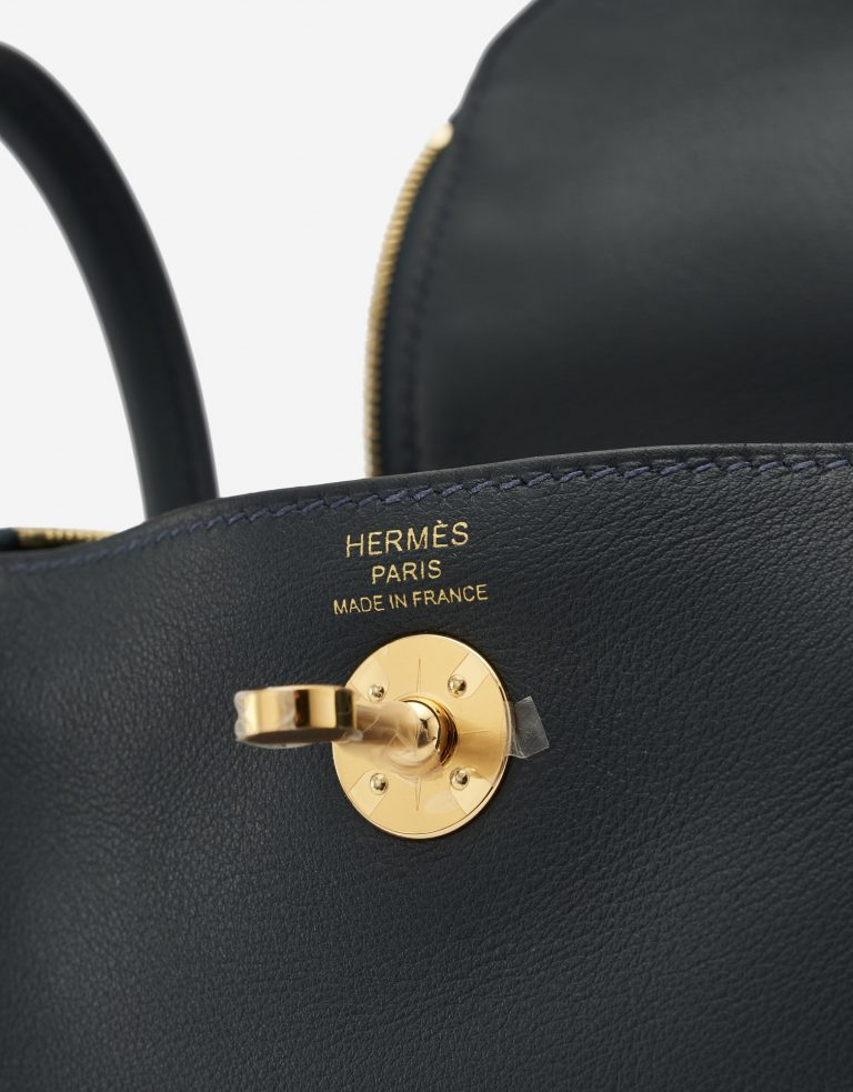 Hermès Lindy Mini Swift Vert Rousseau Hardware SACLÀB
