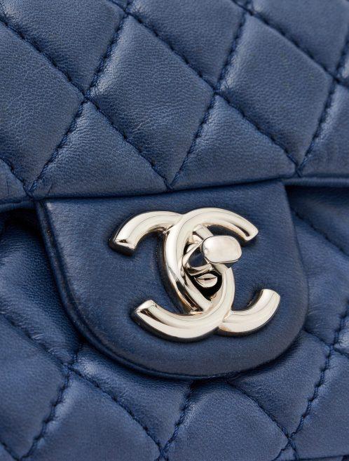 Chanel Timeless Medium Lambskin Blue Silver Hardware SACLÀB