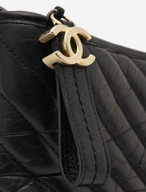 Chanel Gabrielle Medium Calfskin Black Gold Hardware SACLÀB