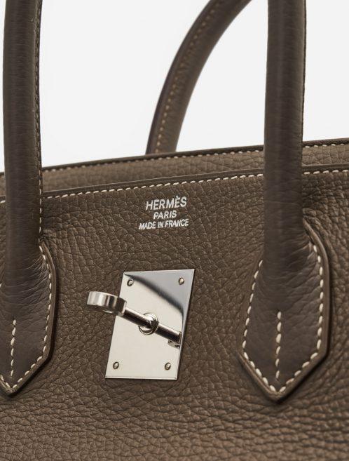 Hermès Birkin 35 Togo Etoupe Palladium Silver Hardware SACLÀB