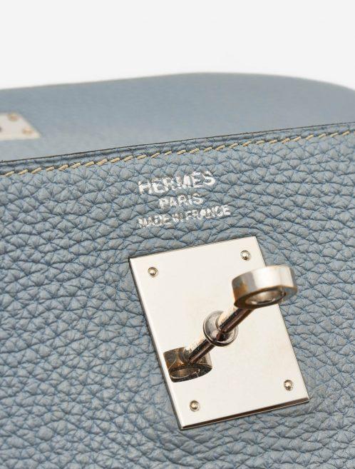 Hermès Kelly 35 Togo Bleu Lin Palladium Silver Hardware SACLÀB
