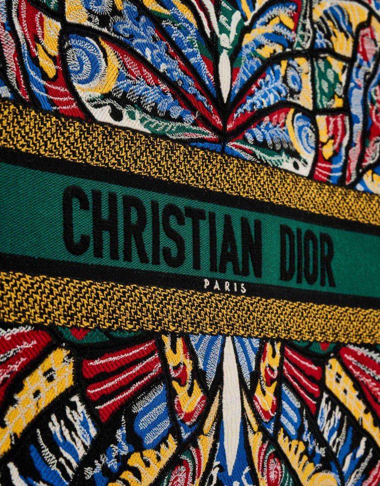 Dior Book Tote Large Canvas Floral Logo SACLÀB