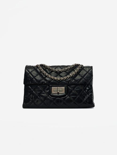 Chanel 2.55 Large Vinyl Black Black  | Sell your designer bag on Saclab.com