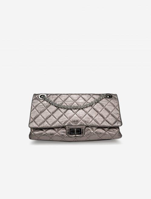 Chanel 2.55 227 Lamb Silver Metallic, Silver  | Sell your designer bag on Saclab.com