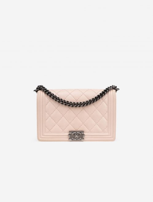 Chanel Boy Medium Lamb Light Pink Natural, Pink  | Sell your designer bag on Saclab.com