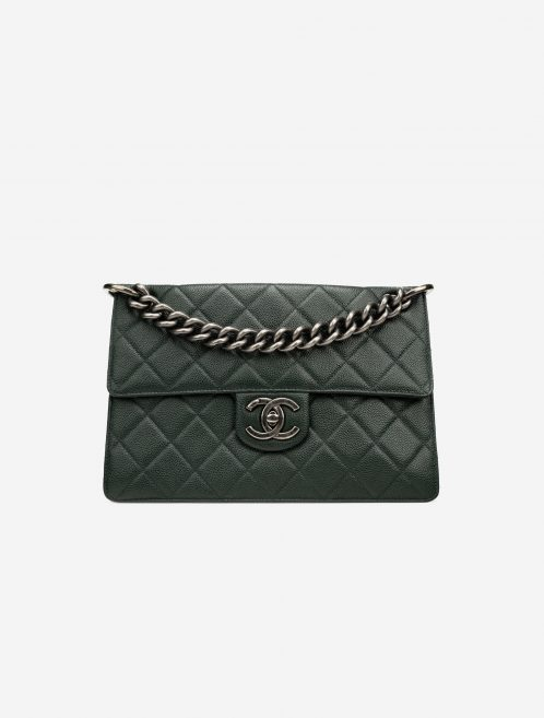 Chanel Timeless Large Caviar Green Green  | Sell your designer bag on Saclab.com