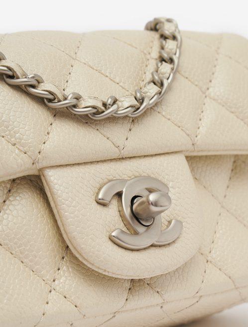 Chanel Timeless Mini Caviar Leather Pearl Handbag Silver Matte Hardware