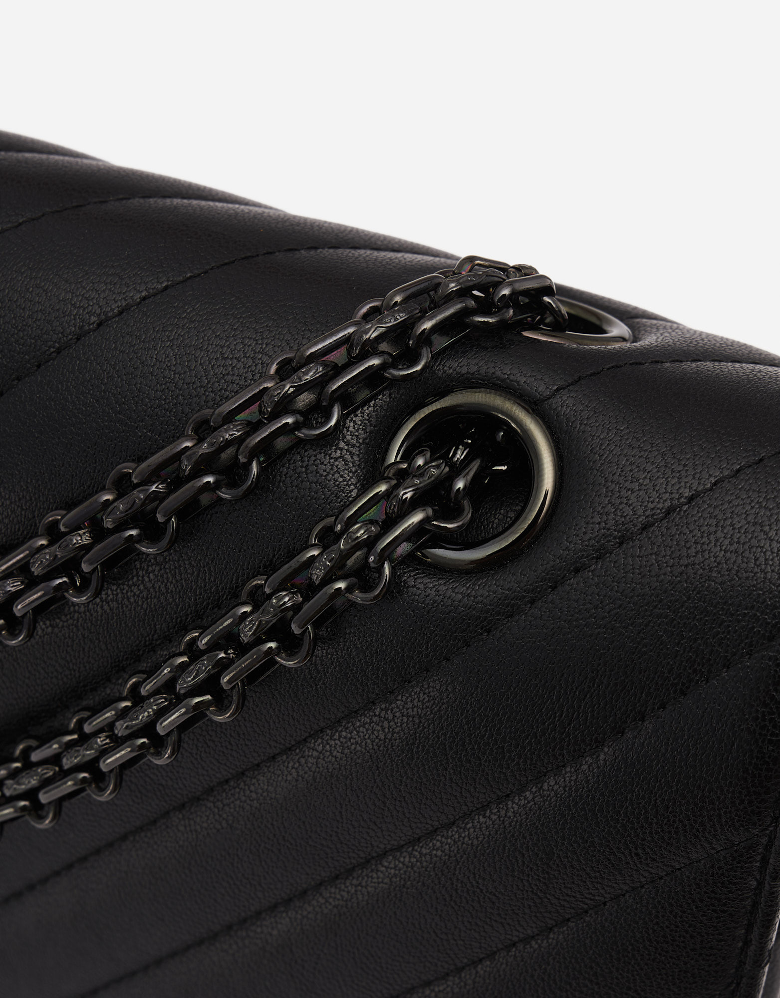 Chanel 2.55 Reissue 227 Lamb So Black Edition Metal Chain Strap