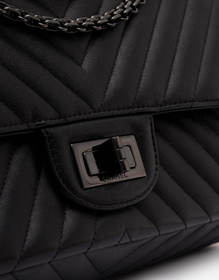 Chanel 2.55 Reissue 227 Lamb So Black Edition Mademoiselle Metal Lock