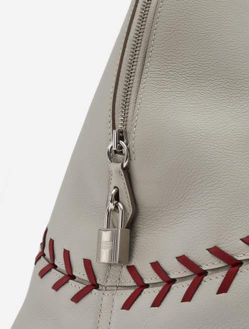Hermès Bolide 1923 Large Evercolor Leather Gris Perle Rouse Casaque Baseball Edition