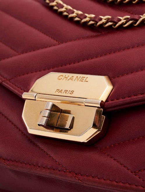 Gabrielle Flap Bag Medium Lambskin Bordeaux Mademoiselle Lock